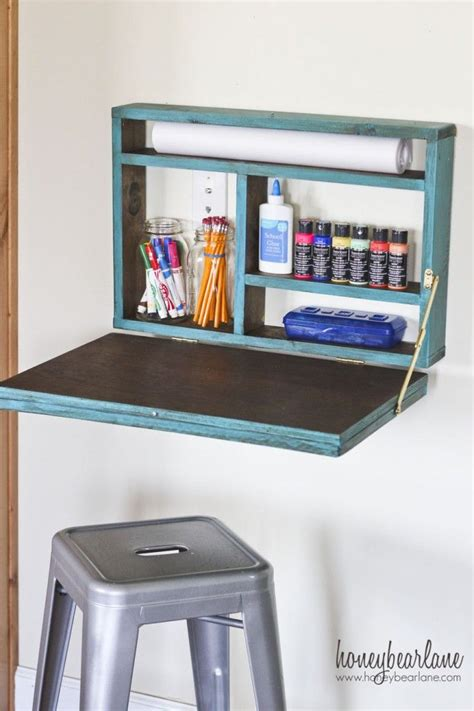 painted fold  desk bernistaba fold  desk diy