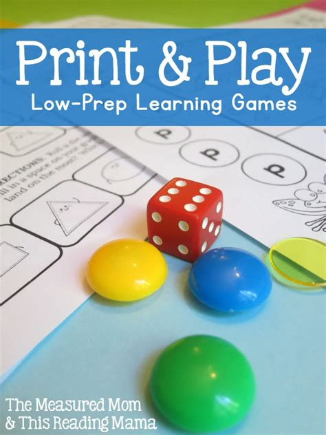 free printable for k 2 just print amp play the 550   print and play low pre learning games