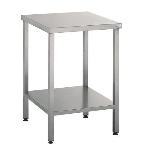 batterie de cuisine en acier inoxydable table support machine 60x60 cm en inox mjpro