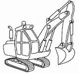 Excavator Coloring Pages Outline Colouring Draw Drawing Digger Diggers Truck Colornimbus Drawings Sheets Construction Popular David Trending Days Last sketch template