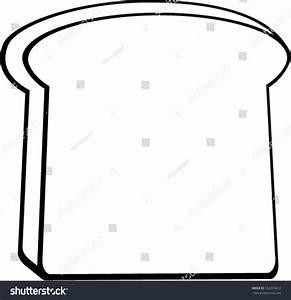 Toast Bread Slice Stock Vector 162035612 - Shutterstock