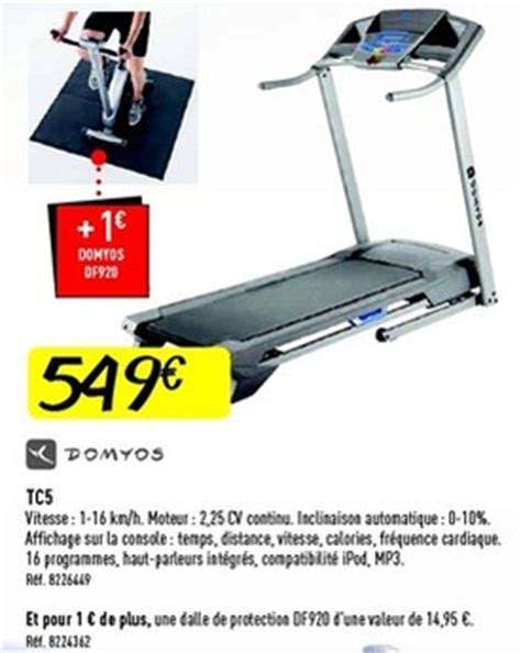 decathlon promotion tc5 domyos tapis roulant disponible jusqu au 05 12 13 promobutler