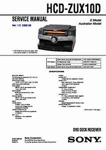 Sony Hcd Zux10d Diagram