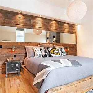 revgercom decoration chambre avec tete de lit idee With idee deco cuisine avec lit en bois