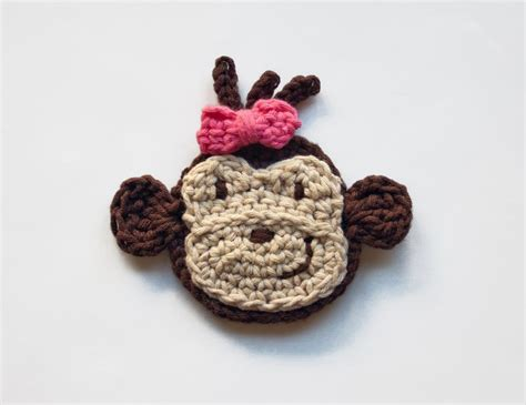 monkey applique you to see monkey applique by oneandtwoco