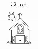 Church Coloring Pages Building Sunday Drawing Outline Printable Bell Buildings Tower Sheets Empire State Blocks Apartment Getcolorings Pray Music Pa sketch template