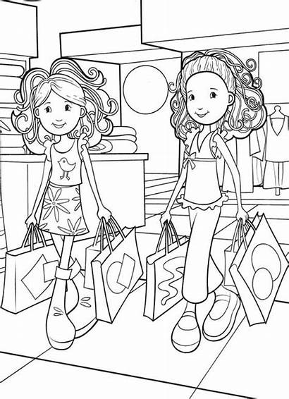 Coloring Shopping Groovy Colouring Sheets Cartoon Printable