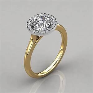 plain shank floating halo engagement ring puregemsjewels With plain engagement ring with diamond wedding band