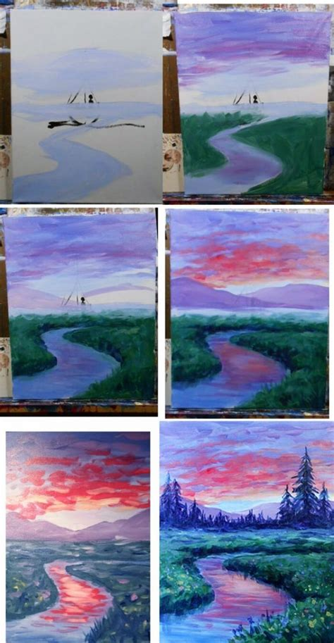 step  step watercolour painting tutorials