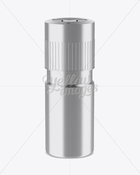 Cosmetic skincare packaging flask template. Metallic Plastic Deodorant Mockup (High-Angle Shot) in ...
