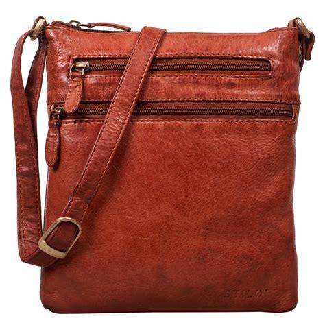 stilord juna damen umhaengetasche leder braun handtasche