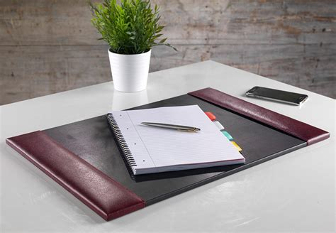 extra large leather desk mat deluxe burgundy top grain leather desk pad large size