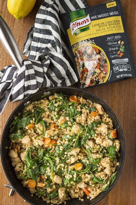 Easy Lemon Chicken with Barley | Knorr One Skillet Meal ...