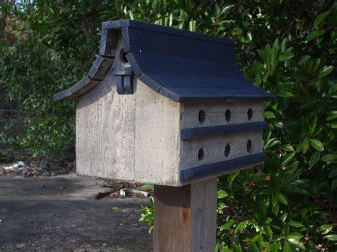purple martin bird house navy blue and white bird house