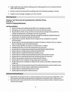 Windows administrator resume