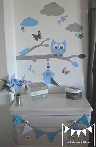 25 best ideas about stickers chambre garcon on pinterest With chambre bebe bleu et gris