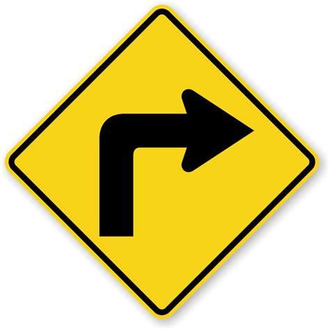 Right Turn Symbol Sign  Sharp Turn Sign, Sku Xw11r