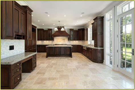Travertine Kitchen Floor  Kitchen #59096  Home Design Ideas
