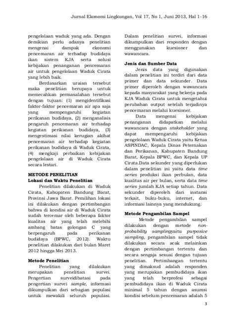 Jurnal Ekonomi Lingkungan vol.17 no.1 IPB