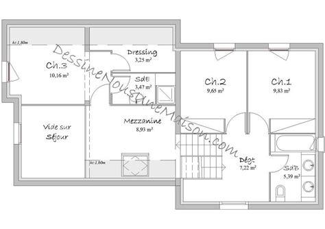 plan maison etage 3 chambres plans de maisons individuelles avec 3 chambres