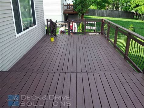 cabot semi solid deck stain mission brown our work des moines deck builder deck and drive