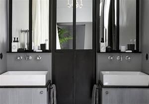 Abat Jour Salle De Bain : 15 salles de bains grises elle d coration ~ Melissatoandfro.com Idées de Décoration
