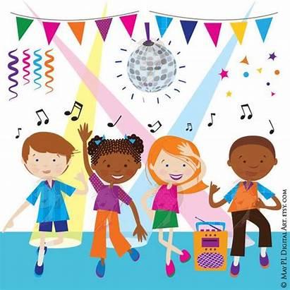 Dance Party Clipart Children Disco Dancing Celebration