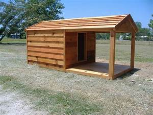 custom heated dog houses custom cedar dog house with With dog house with deck