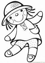 Coloring Doll Pages Printable Popular sketch template