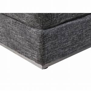 Tissu Gris Chiné : pouf design agata en tissu gris anthracite chin ~ Teatrodelosmanantiales.com Idées de Décoration
