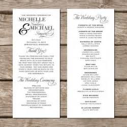 programs for weddings templates simple wedding program modern trendy by