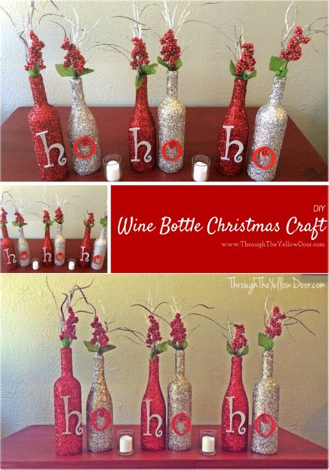 20 festively easy wine bottle crafts for holiday home