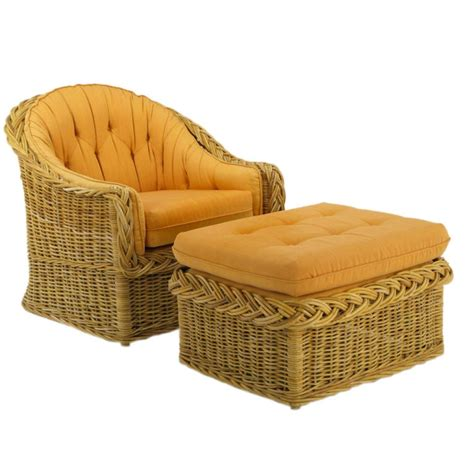 the wicker works woven rattan barrel back lounge chair and