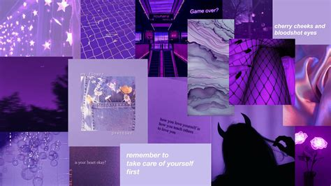 purple aesthetic desktop wallpapers