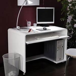 Bureau Informatique Design : bureau ordinateur blanc plan bureau enfant lepolyglotte ~ Teatrodelosmanantiales.com Idées de Décoration