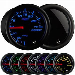 Glowshift 52mm Tinted 7 Color Led Supercharger Boost Gauge