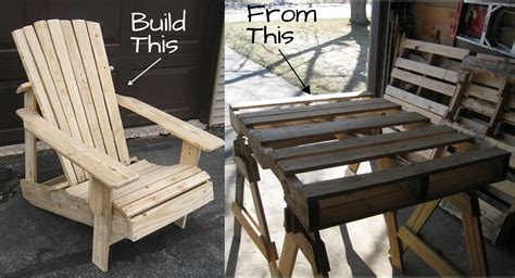 pallet adirondack chair plans woodwork city