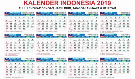 Download Kalender 2019 Gratis Lengkap Dengan Tanggalan