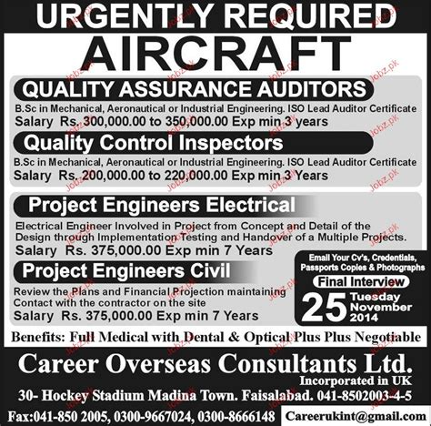 Quality Assurance Auditors, Quality Control Inspector