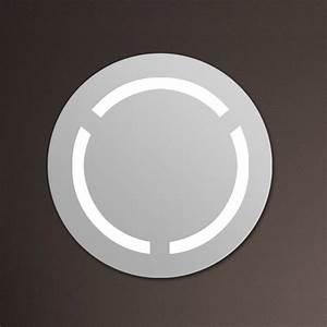 Miroir Rond Salle De Bain : miroir lumineux salle de bain rond 60 cm ~ Nature-et-papiers.com Idées de Décoration