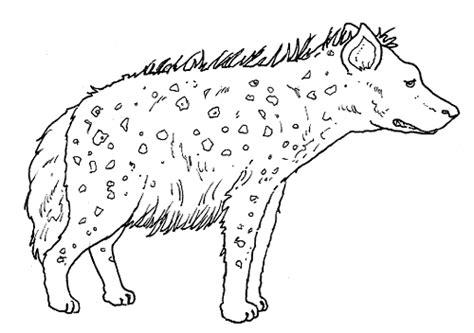 Animal Printable Scary Hyena Coloring Sheet