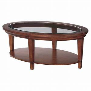 Round wood coffee table with storage round cherry wood and for Wood coffee table with glass insert
