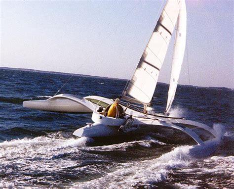 Trimaran Ocean Sailing by Ocean Surfer 1988 Cstar Trimaran By Dick Newick Sailed