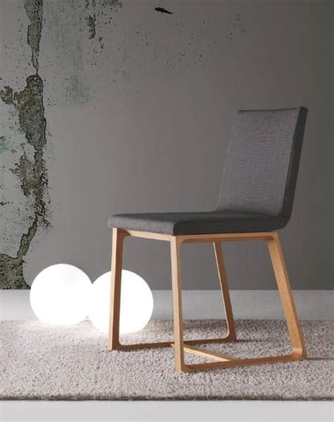 dining wooden chair padded removable cover idfdesign