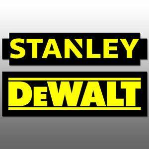 "Dewalt Stanley Logos Decal Stickers 6.0"" yellow black ..."