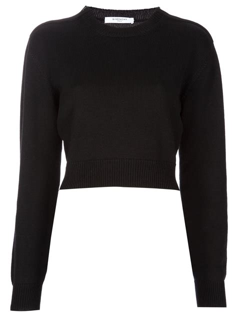 givenchy cropped sweater  black lyst