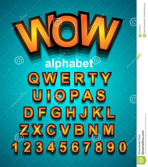 colorful funny simple font  cartoon project child