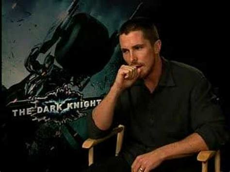 Christian Bale Interview For The Dark Knight Youtube
