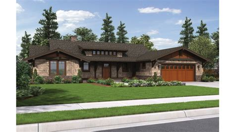 craftsman ranch house plans   car garage turning ranch  craftsman style home classic