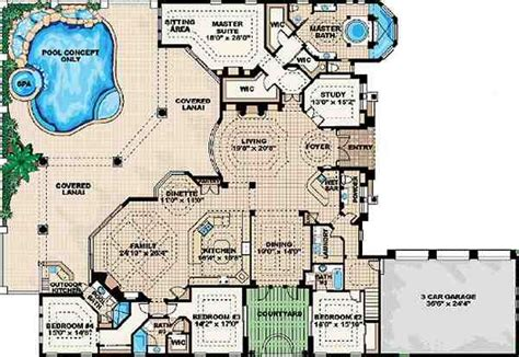 cool floor plans cool pool plan house plans home and